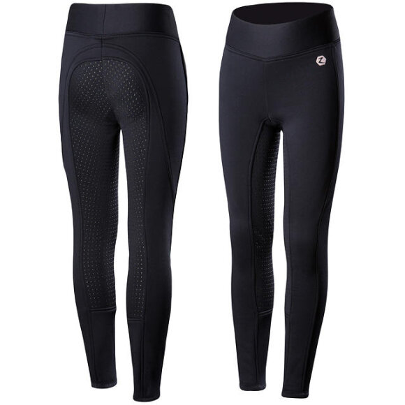 Horze - Active junior vinter tights med fuld silikone grip